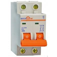 Автоматичний вимикач ECO 2p 6A ECOHOME  АСКО ECO010020001