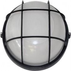 Світильник круглий 0102 білий (чорний) з решіткою 100W Е27 ІР54 АСКО A0180010002