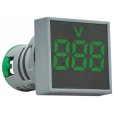 Цифровий вольтметр змінного струму ED16-22FVD 12-500В АС (зелений) квадратний АСКО A0190010034