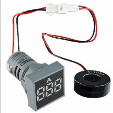Цифровий амперметр змінного струму ED16-22FAD 0-100A (білий) квадратний АСКО A0190010037