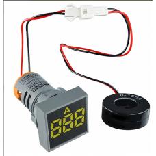 Цифровий амперметр змінного струму ED16-22FAD 0-100A (жовтий) квадратний АСКО A0190010038