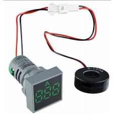 Цифровий амперметр змінного струму ED16-22FAD 0-100A (зелений) квадратний АСКО A0190010039