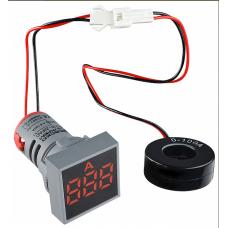 Цифровий амперметр змінного струму ED16-22FAD 0-100A (червоний) квадратний АСКО A0190010040