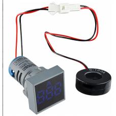Цифровий амперметр змінного струму ED16-22FAD 0-100A (синій) квадратний АСКО A0190010041