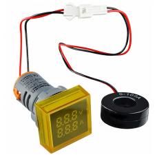 Цифровий ампер-вольтметр змінного струму  ED16-22 FVAD 0-100A, 25-500В (жовтий) квадратний АСКО A0190010048