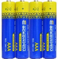 Батарейка сольова AАА.R03.S4 (shrink 4) АСКО 4823053503149 Аско.R03.S4