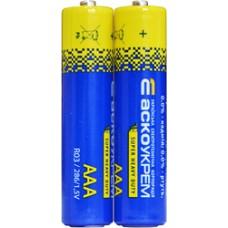 Батарейка сольова AАА.R03.S2 (shrink 2) АСКО 4823053503148 Аско.R03.S2