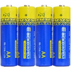 Батарейка сольова AА.R6.S4 (shrink 4) АСКО 4823053503152 Аско.R6.S4