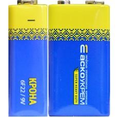 Батарейка сольова Крона.6F22.S1 (shrink 1) АСКО Аско.6F22.S1