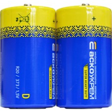 Батарейка сольова D.R20.S2 (shrink 2) АСКО Аско.R20.S2