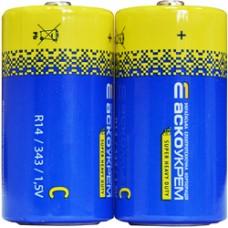 Батарейка сольова С.R14.S2 (shrink 2) АСКО Аско.R14.S2