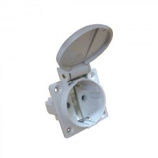 Розетка (гніздо) врізна ГВ 16А/2 (220В) 2Р+РЕ (312) біла АСКО A0080030011