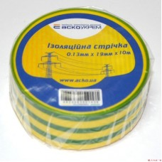 Ізострічка ECO 0,11мм*18мм/18м жовто-зелена  АСКО ECO0150020018