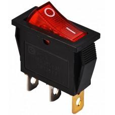KCD3-101N R/B 220V  Перемикач 1 клав. червоний з підсвічуванням АСКО A0140040027