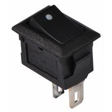KCD5-101 B/B Перемикач 1 клав. чорний  АСКО A0140040099