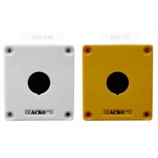 Корпус HJ9-1 1-містний жовтий пласт.до постів АСКО A0140020027