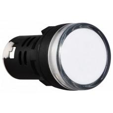 AD22-22D/S  Cигнальна арматура біла 220V AC АСКО A0140030044