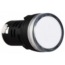 AD22-22D/S  Cигнальна арматура біла 24V AC/DC АСКО A0140030037