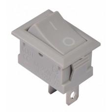 KCD1-101 Grey/Grey  Перемикач 1 клав. сірий АСКО A0140040051
