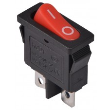 KCD1-12-101 R/B  Перемикач 1 клав. (червона овальна клавіша) АСКО A0140040090