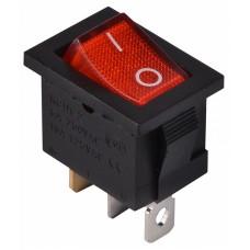 KCD1-2-101N  R/B  220V Перемикач 1 клав. червоний з підсвічуванням АСКО A0140040053