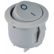 KCD1-5-101 Grey/Grey Перемикач 1 клав. круглий сірий АСКО A0140040069