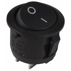 KCD1-5-101 B/B  Перемикач 1 клав. круглий чорний АСКО A0140040067