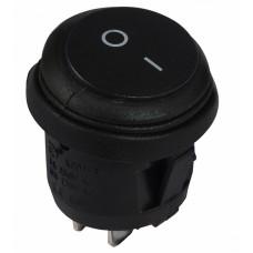KCD1-5-101W B/B Перемикач 1 клав. круглий чорний вологозахищений АСКО A0140040073