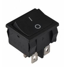 KCD1-6-201 B/B Перемикач 1 клав. чорний  АСКО A0140040080