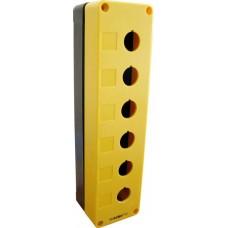 Корпус HJ9-6 6-містний жовтий пласт.до постів АСКО A0140020032