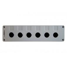 Корпус HJ9-6 6-містний білий пласт.до постів АСКО A0140020032