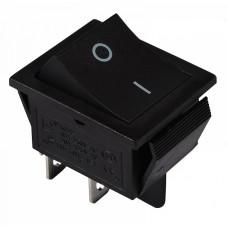 KCD2-201 B/B Перемикач 1 клав. чорний  АСКО A0140040100