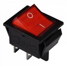 KCD2-201N R/B 220V Перемикач 1 клав. червоний з підсвічуванням АСКО A0140040101