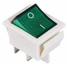 KCD2-201N GR/WH 220V Перемикач 1 клав. зелений з підсвічуванням АСКО A0140040104