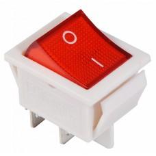 KCD2-201N R/WH 220V Перемикач 1 клав. червоний з підсвічуванням АСКО A0140040105