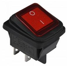 KCD2-201WN R/B 220V Перемикач 1 клав. вологозах. червоний з підсвічуванням АСКО A0140040114
