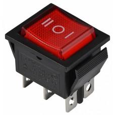 KCD2-203N R/B 220V Перемикач 1 клав. перекидний червоний з підсвічуванням АСКО A0140040107