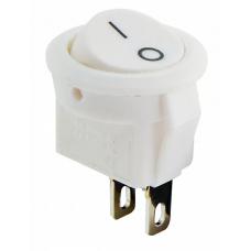 KCD5-2-101 WH/WH 1 клав. круглий мініатюр. (білий) АСКО A0140040131