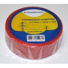 Ізоляційна стрічка 0,13мм х 19мм х 10м червона  АСКО A0150020035
