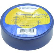 Ізоляційна стрічка 0,13мм х 19мм х 15м синя  АСКО A0150020029