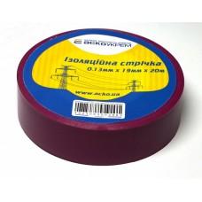 Ізоляційна стрічка 0,13мм х 19мм х 20м фіолетова  АСКО A0150020048