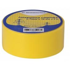 Ізоляційна стрічка 0,13мм х 19мм х 20м жовта  АСКО A0150020039