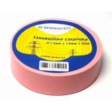 Ізоляційна стрічка 0,13мм х 19мм х 20м рожева  АСКО A0150020045