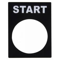 Табличка маркувальна START для кнопок XB2 АСКО A0140010068