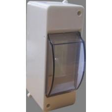 Щиток пластиковий зовнішній для 2 модульних автомат. вимик. ОВ-2 АСКО