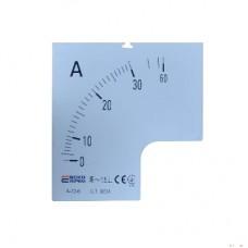 Шкала 30/5А до амперметра А-96-6 АСКО A0190010079