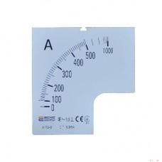 Шкала 500/5А до амперметра А-96-6 АСКО A0190010086
