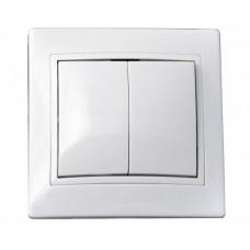 ВимикачFL 2-ий білий 10А  АСКО BBсб10-2-0-Fl-W