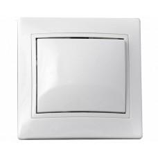 ВимикачFL 1-ий білий 10А  АСКО BBсб10-1-0-Fl-W