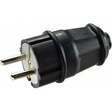 Вилка каучукова стандартна 2Р+PE 16А IP44 АСКО A0250010001